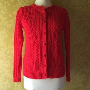 Vintage Wool Cable Cardigan